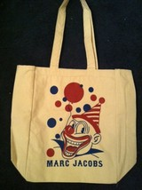 MARC JACOBS limited edition logo clown eco green friendly CANVAS BAG RAR... - $120.00