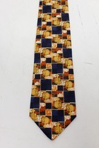 Ermenegildo ZEGNA Horse Zoo Orange Pattern 100% Silk men's TIE - NWT - $35.00