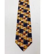Ermenegildo ZEGNA Horse Zoo Orange Pattern 100% Silk men's TIE - NWT - $35.00