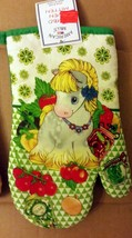 """1 Printed Oven Mitt (7"""" X 10"""") Pony & Tomatoes & Olive Oil, Green Back By Am - $7.91"""