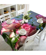 3D Pink Flowers 1 Tablecloth Table Cover Cloth Birthday Party Event AJ W... - $60.66+