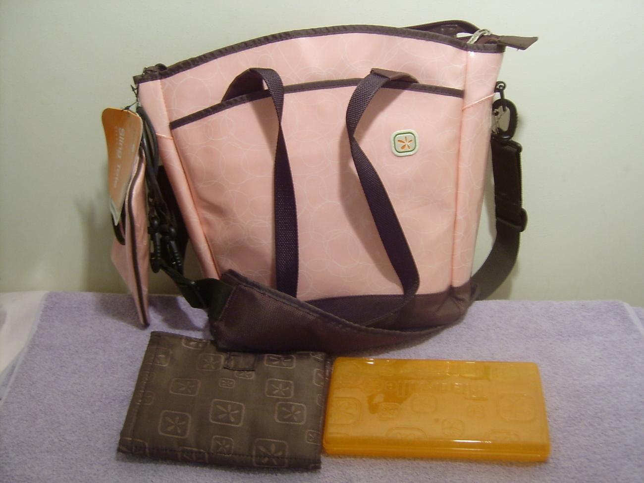 FLEURVILLE DIAPER BAG SLING TOTE PINK NEW Bonanza