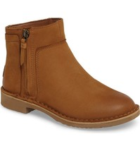 Womens Ugg Australia Boots Rea Layered Panels Nubuck Leather Ankle Booties 10 - $160.24