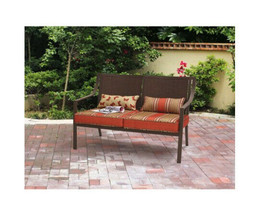 Outdoor Bench Patio Loveseat Deck Garden Porch Furniture Cushions 2-Pers... - $157.33