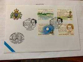 San Marino FDC Giacomo Leopardi 1998  stamps - $9.95
