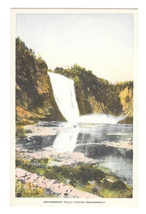 Chutes Montmorency Falls Quebec Canada Vintage Waterfall Postcard - $4.99