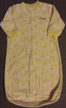 "Girl's Boy's 0-3-6-9 M OS Carter's Yellow Ducky ""I Love Hugs"" Fleece Sle... - $12.25"