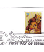 THE ART OF DISNEY FRIENDSHIP, Set of 4  First Day Issue - $4.95