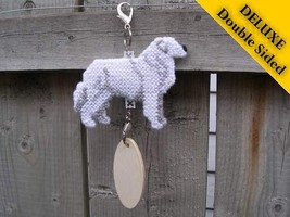 Kuvasz Deluxe crate tag double sided art, hang anywhere, show dog agilit... - $29.00