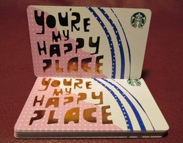 Lot of 10 Starbucks 2017 YOU'RE MY HAPPY PLACE Gift Cards New with Tags - $13.20