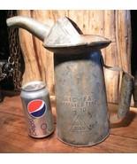 Galvanized Oil Can Metal Petroliana NYC-PA 2 Qt... - $39.99
