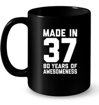 80th Birthday Gift Age 80 Year Old Mens Womens Gift Coffee Mug - $13.99+