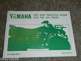 1998-2016 Yamaha Tips & Practice Guide Atv Wheeler Owner Owners Owner's Manual - $18.81