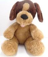 "Build A Bear Brown Puppy Dog Plush 11"" Stuffed Light Dark Brown BABW sit... - $13.85"