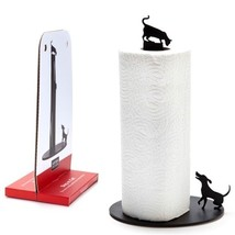 Home Funky Original Design Metal Paper Towel Holde Kitchen Decor Bar Cat... - $49.00