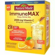 Nature Made ImmuneMAX Fizzy Drink Mix with Vitamin C Vitamin D and Zinc Suppleme - $29.69