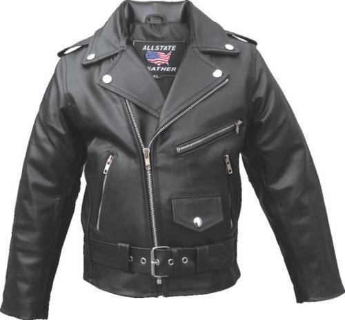 Boy Girl Childs Motorcycle Leather Motorcycle Jacket   Allstate leather