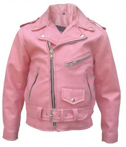 Girls Pink Motorcycle Leather Motorcycle Jacket  Allstate Leather