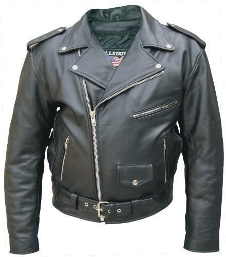 Mens Tall Buffalo Leather Motorcycle Biker Jacket Allstate Leather