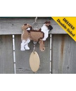 Akita Deluxe crate tag double sided art, hang a... - $30.00