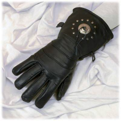 Unisex Leather Mens Women Motorcycle Gloves with Concho Gauntlet usa