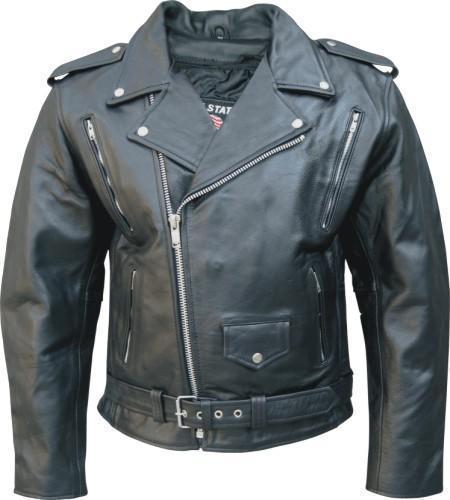 Mens Buffalo Leather Motorcycle Biker Jacket Full Belt Allstate Leather
