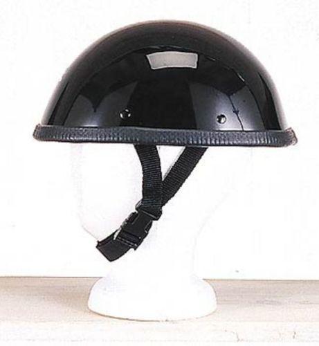 Non DOT Shiny Black Eagle Motorcycle Helmet Half Face Usa Bikers