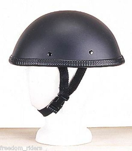 Motorcycle Helmet Easy Rider Style Flat Black Fiberglass Shell BIKERS
