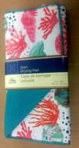 "Microfiber Dish Drying Mat, Approx 12"" x 18"", SEALIFE, bluesh, aqua by GR - $10.88"