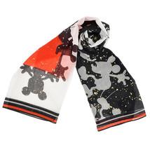 Disney Store Japan Mickey Mouse Scarf Initial Bandana Shawl monotone Ladies - $62.37