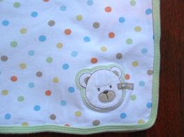 Carters I Love Heart Hugs Bear White & Green Po... - $19.55