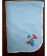 Koala Baby Blue Plane Baby Blanket  Security Lovey Blanket - $28.37
