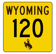 Wyoming Highway 120 Sticker R3423 Highway Sign - $1.45+