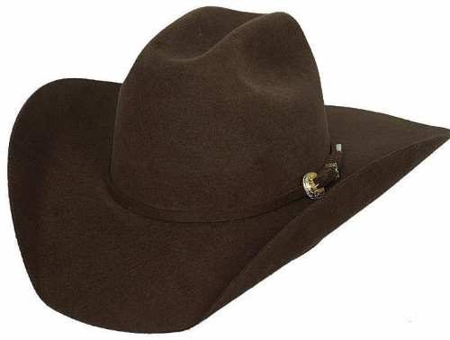 Primary image for Bullhide Kingman 4X Wool Cowboy Hat 3 Piece Buckle Set Chocolate Black Gray Red