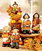 Thanksgiving Couple or Turkey Figurine Centerpiece Table Top Holiday Dec... - $16.59+