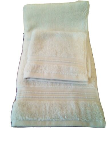 FIELDCREST 2Pc  Towel Set 100%Cotton 1 HAND Towel & 1 Washcloth Newark Blue -