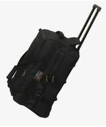22 IN Rolling Wheeled Duffel Bag Luggage 5772 Black Wheels Duffelbag Car... - $37.61