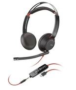 Plantronics 207586-01 Blackwire 5220 Stereo USB-C Corded Noise Canceling... - $80.36