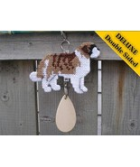 St Saint Bernard Deluxe crate tag art, hang any... - $32.00