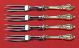 """Eloquence by Lunt Sterling Silver Fruit Fork Set 4-Piece Custom Made 6"""" HH WS - $303.05"""