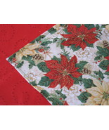"""Christmas Table Topper 31""""x31"""" cotton designer fabric - red green gold c... - $12.95"""