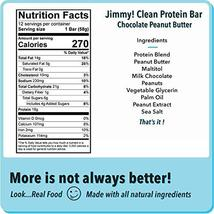 Jimmy! Chocolate Peanut Butter Protein Bars, 18g Protein, Low Sugar, 24 Count image 2