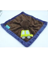 Tiddlewinks Bear Car Security Blanket Baby Lovey Brown Blue Velour Soft Toy - $13.85