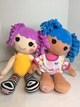 Build a Bear Lalaloopsy Lot Peanut Big Top Circus And Mittens Fluff N Stuff Doll - $39.59