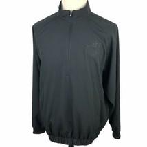 Footjoy 1/2 Zip Golf Pullover Jacket Medium Black Windbreaker Lightweight - $39.50