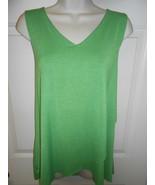 Cute Women's Attitudes by Renee size M Green V Neck layered sleeveless ... - $10.88