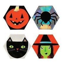 8 Pcs Halloween Party Disposable Paper Plates Tableware Plate Pumpkin Wi... - £7.00 GBP