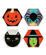 8 Pcs Halloween Party Disposable Paper Plates Tableware Plate Pumpkin Wi... - $8.99