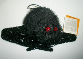 Halloween Large Shaking Lighted Black Spider Prop with Sound - $19.99