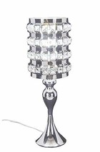 Diamond Life Chrome Finish Metal and Crystal Shade Table Lamp, 19-inch Tall - €31,76 EUR